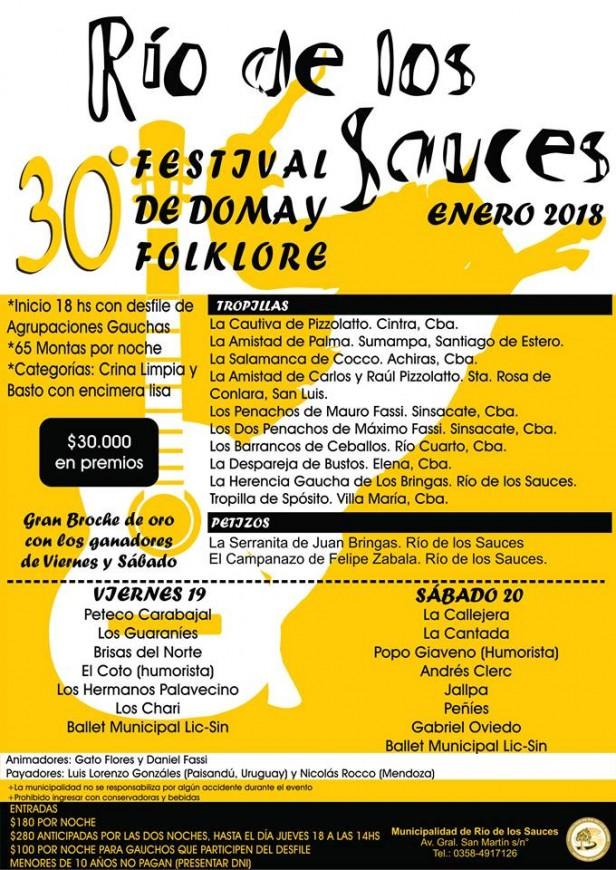 Se viene el Festival de Río de los Sauces