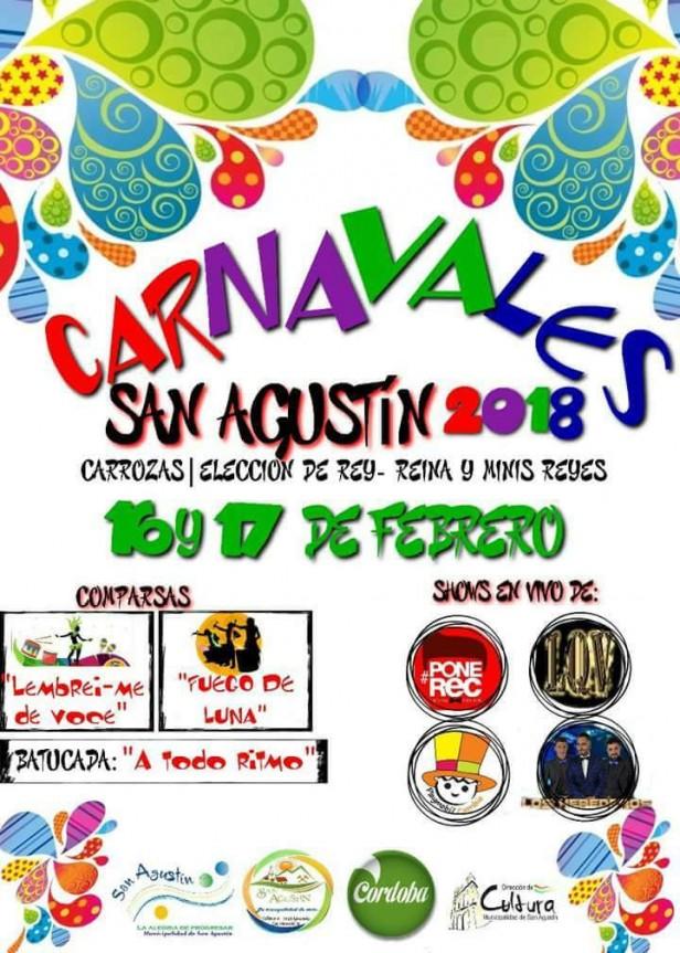 Se vienen los Carnavales en San Agustin