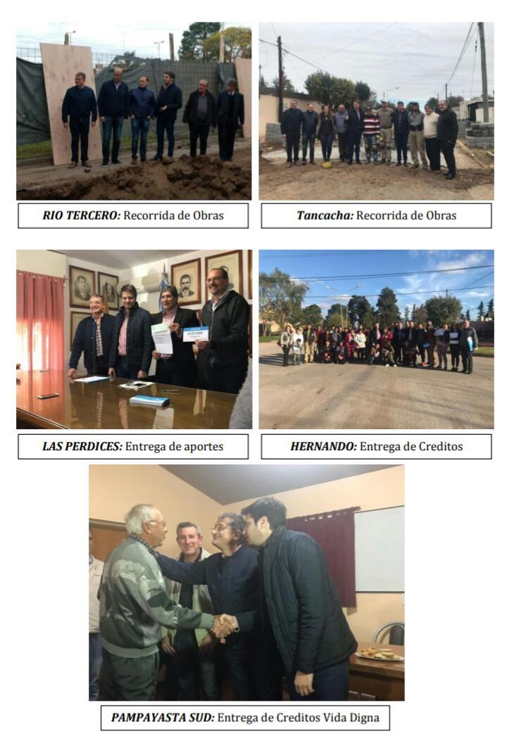 Juan Carlos Scotto y Legisladores visitaron obras en marchas y realizaron distintos aportes económicos