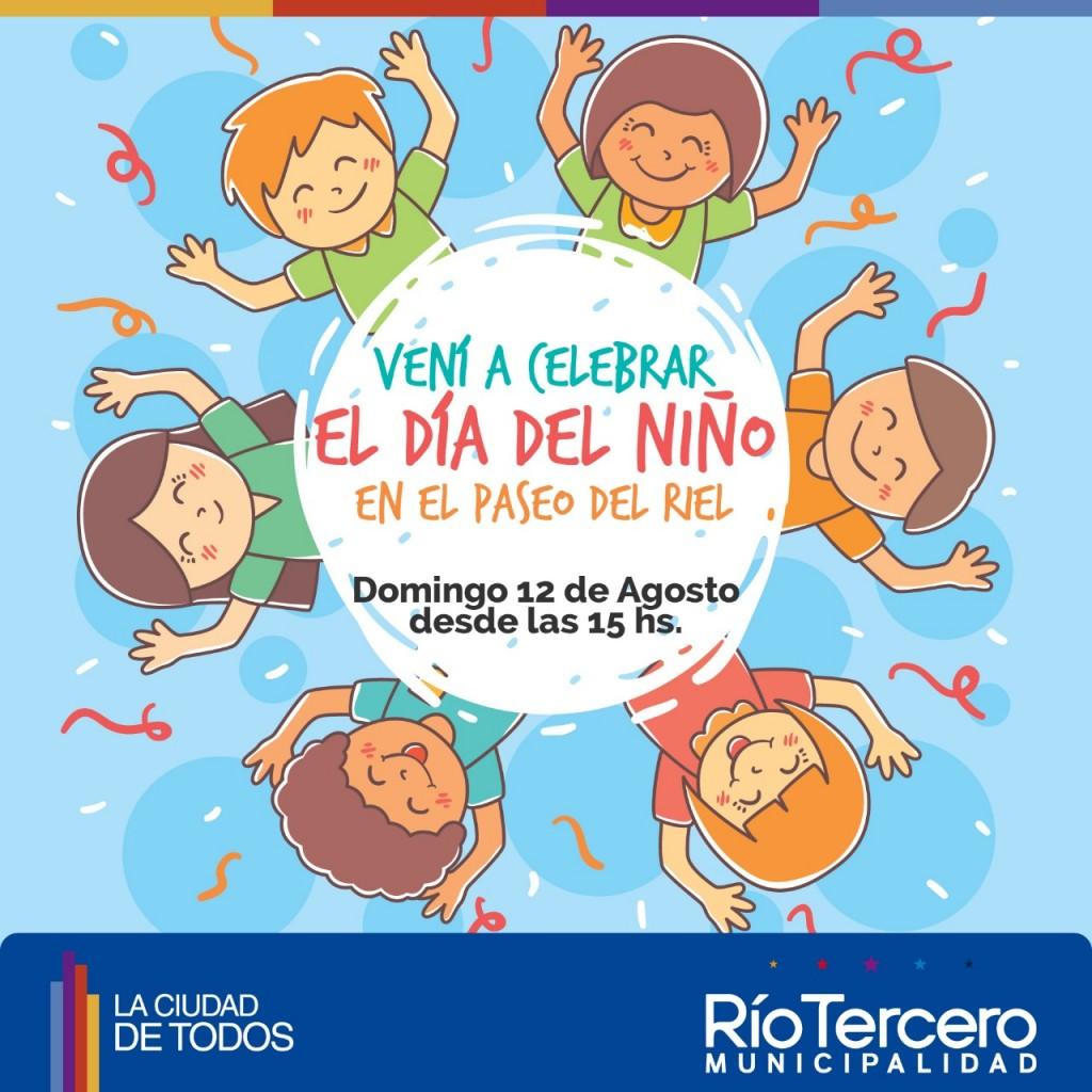 Este domingo 12 se festeja el Día del Niño en el Paseo del Riel