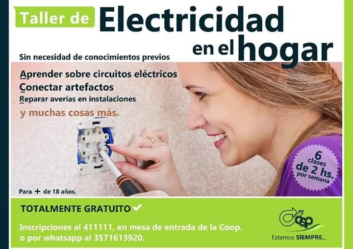 EL CURSO DE ELECTRICIDAD QUE DICTO LA COOPERATIVA TUVO MUCHA DEMANDA
