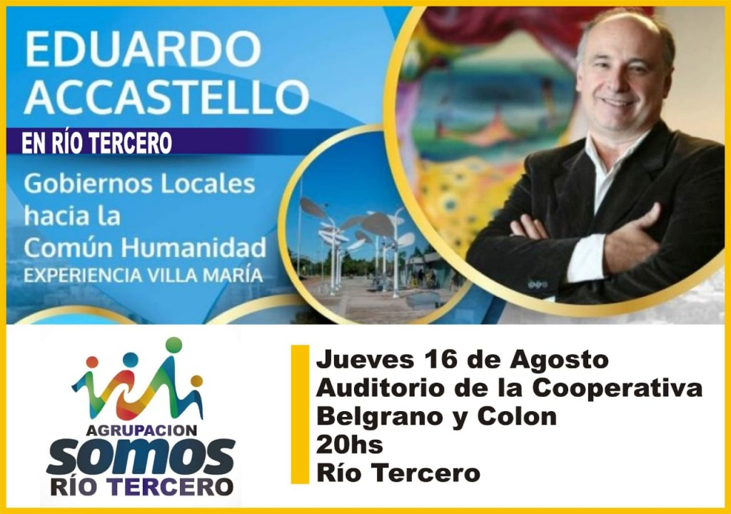 Eduardo Ascastello visitará nuestra Ciudad