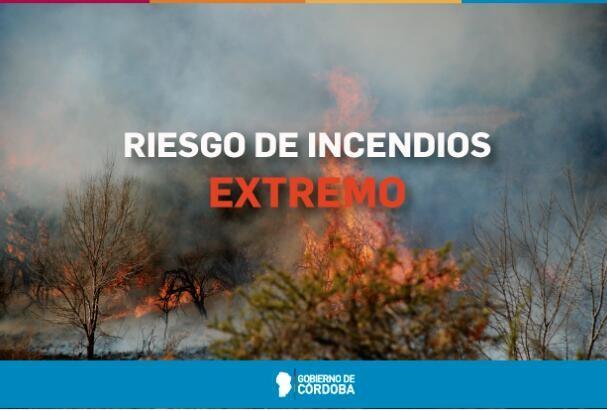 Continúa el alerta por riesgo extremo de incendios