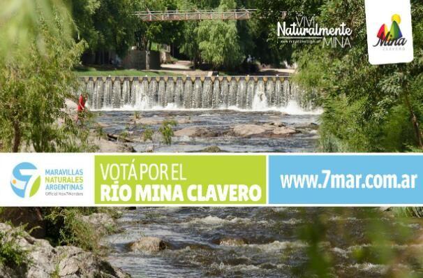 El río Mina Clavero compite por ser maravilla natural argentina