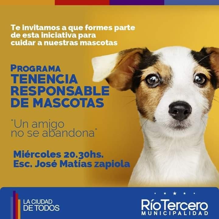 Comienza el Programa de Tenencia Responsable de Mascotas