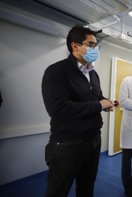 EL MINISTRO DE SALUD DIEGO CARDOZO RECORRIÓ LA OBRA DEL NUEVO HOSPITAL