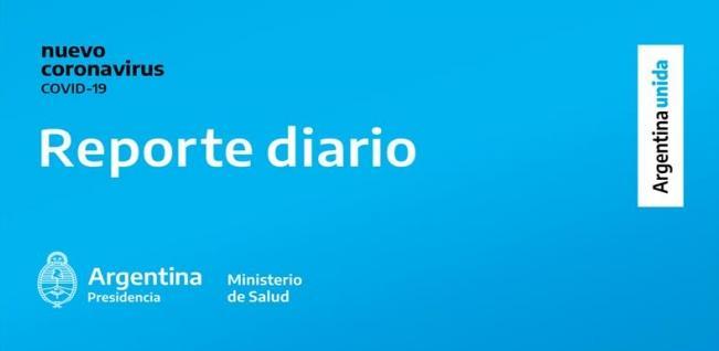 REPORTE DIARIO 904 NUEVOS CASOS DE COVID-19 EN ARGENTINA
