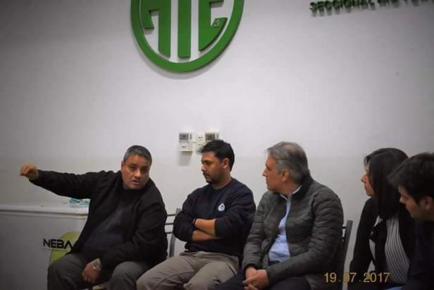 Martín Llaryora Visitó ATE Río Tercero