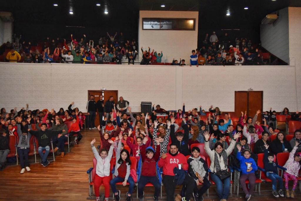 Más de 250 chicos asistieron a la jornada del Cine Social en el Anfiteatro