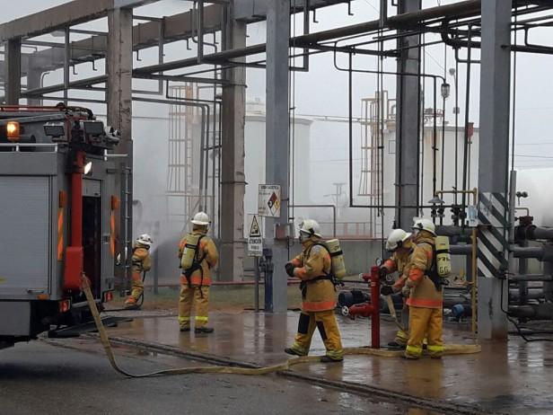 Simulacro en Petroquimica Río Tercero