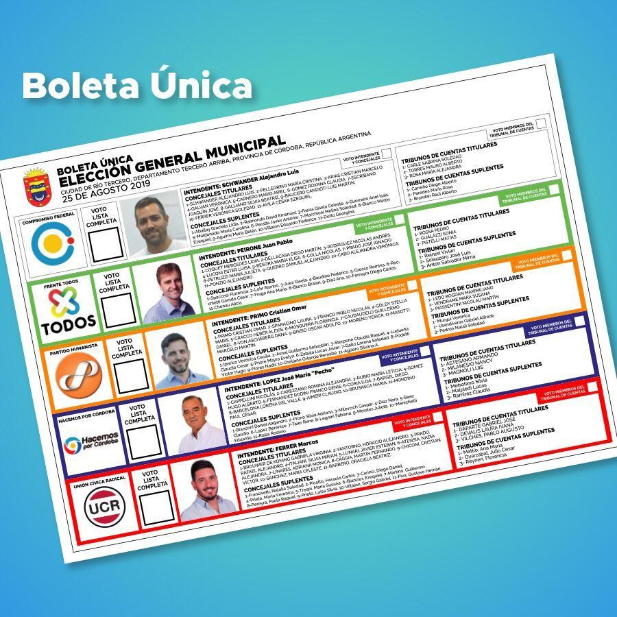 ELECCIONES MUNICIPALES: HOY DOMINGO 25 DE AGOSTO  ELEGIMOS INTENDENTE ENTRE 5 CANDIDATOS