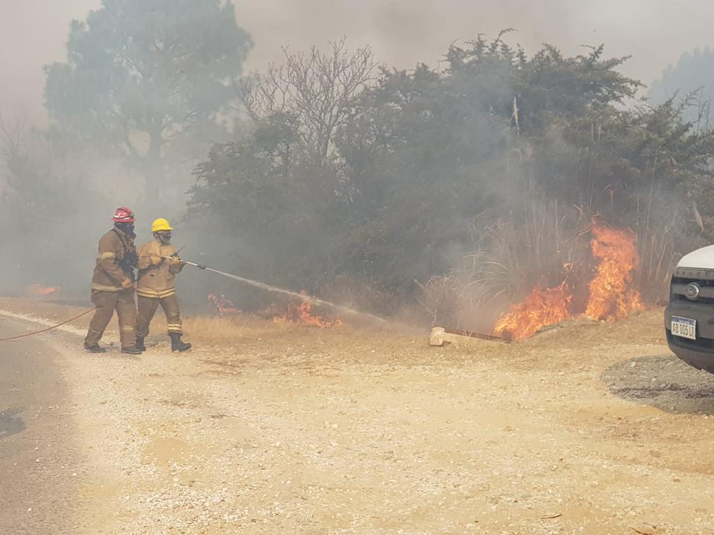 Un nuevo incendio en cercanías de Alta Gracia