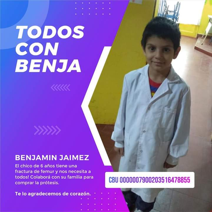 """Sonia Díaz (Mamá de Benja): """"El día martes largamos un sorteo con otros premios, se pueden llegar a Leandro Alem 1840 o lo pueden pedir al fijo 504960"""""""