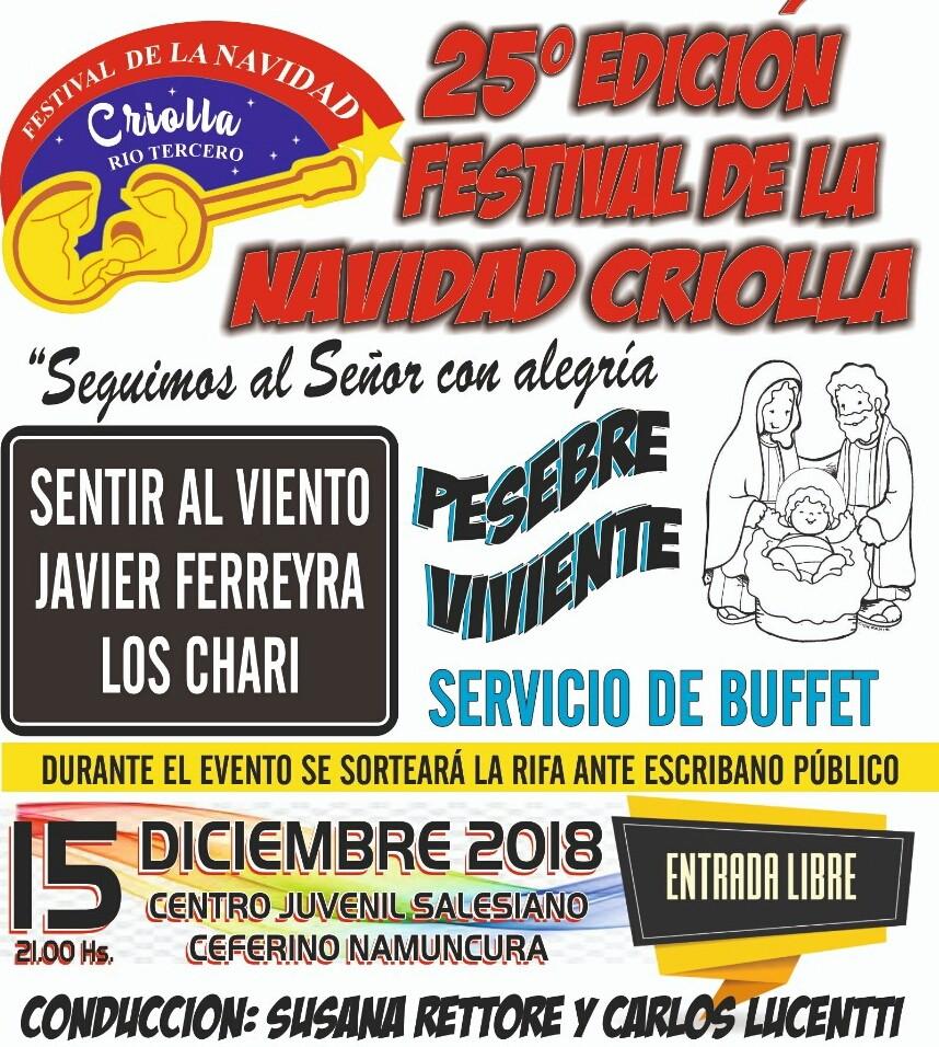 Se viene la 25° Edición Del  festival de la Navidad Criolla